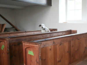 Reg testing out the pews